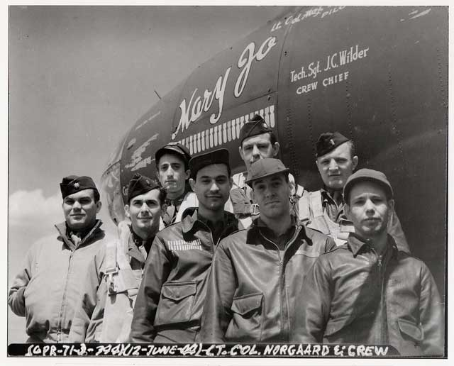 344th Bomb Group, Flight Crew of Lead Aircraft, D-Day, 6 June 1944