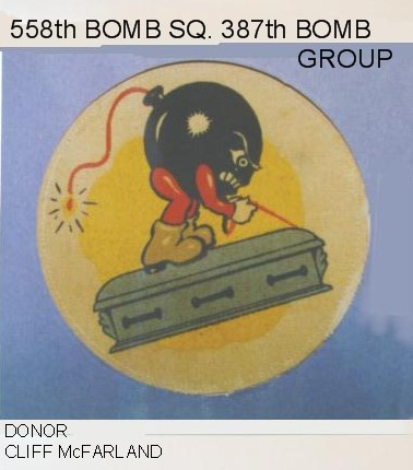 558th Bomb Squadron Insignia, 387th Bomb Group